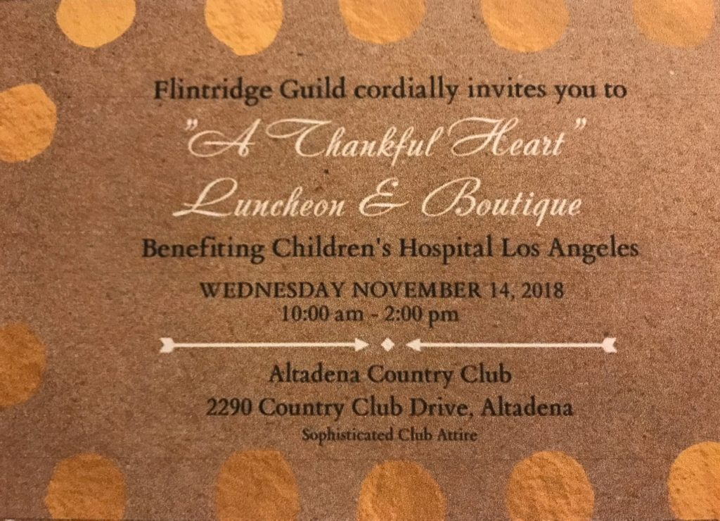 A Thankful Heart Luncheon Invite